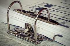 Archive of working documents. Storage Royalty Free Stock Photography