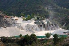 Spanish dolomite quarry, near Canillias De Albaida. Stock Photo