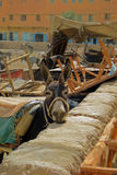 Working Donkey in a Bazaar Royalty Free Stock Images