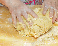 Working dough Royalty Free Stock Photo