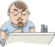 Working Draftsman Royalty Free Stock Photo