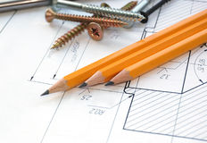 Working drawing Stock Photography