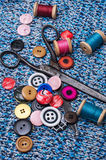 Working dressmaker accessories Stock Photos