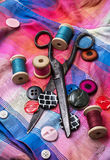 Working dressmaker accessories Stock Photo