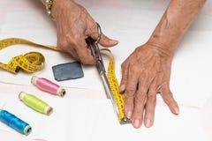 Working dressmaker Royalty Free Stock Photos