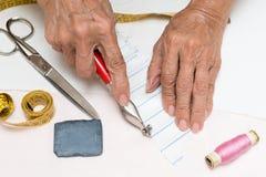 Working dressmaker Royalty Free Stock Photo