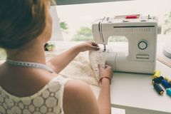 Working dressmaker Stock Photography