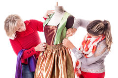 Working Dressmakers Royalty Free Stock Image