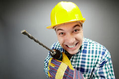 Working with drill royalty free stock image