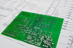 Working on an electronic project stock photo