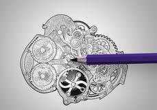 Working engine royalty free illustration