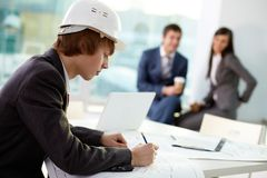 Working Engineer Stock Image