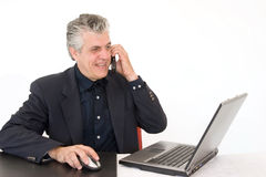 Working with enthusiam Stock Image