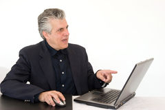 Working with enthusiam Stock Photography