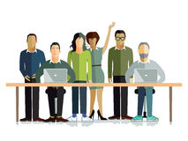Working environment stock illustration