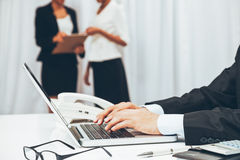 In working environment Royalty Free Stock Photos
