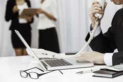 In working environment Royalty Free Stock Image