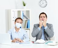 Working during epidemy Stock Photos