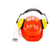 Working equipment for architects. Isolated on a white background royalty free stock photography