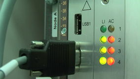 Working equipment in mobile switching center stock video