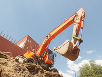 Working excavator Royalty Free Stock Photography