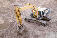 Working Excavator from Above Royalty Free Stock Image