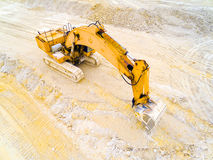Working excavator. Stock Photo