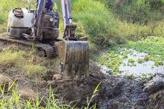 Working excavator backhoe. Royalty Free Stock Photos