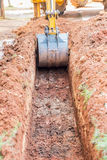 Working Excavator Stock Photography