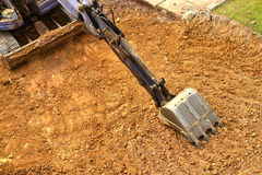 Working excavator tractor Royalty Free Stock Photos