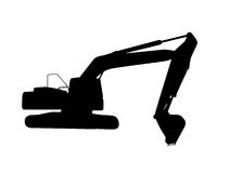 Working Excavator.  Royalty Free Stock Images