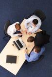 working för affärsgrupp Arkivbild