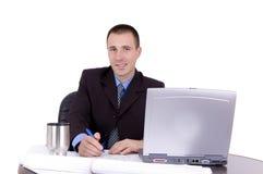 working för affärsman arkivfoto