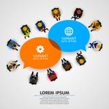 working för folk för kontor för affärsgrupp stock illustrationer