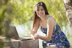 Working from far away Royalty Free Stock Photo