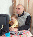 Working father Stock Photos
