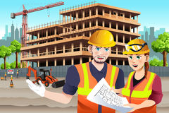 Working Female Construction Worker Stock Photos
