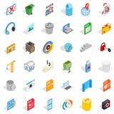 Working file icons set, isometric style. Working file icons set. Isometric style of 36 working file vector icons for web isolated on white background Royalty Free Stock Image