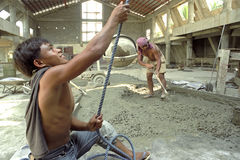 Working Filipino building workers Royalty Free Stock Photos