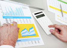 Working on finances Royalty Free Stock Photo