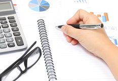 Working financial Royalty Free Stock Image