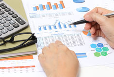 Working financial Royalty Free Stock Photo