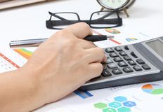 Working financial Royalty Free Stock Photos