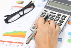 Working financial Stock Photography