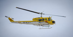 Working on fire helicopter Royalty Free Stock Photo