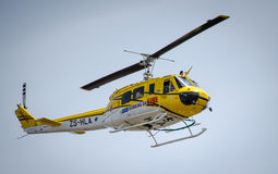 Working on fire helicopter Royalty Free Stock Image