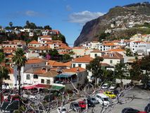 View of Camara de Lobos with Cabo Girao in the Background. Royalty Free Stock Photography