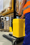 Working with forklift Royalty Free Stock Photos