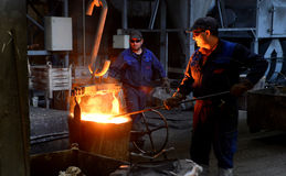 Working in a foundry Royalty Free Stock Photo