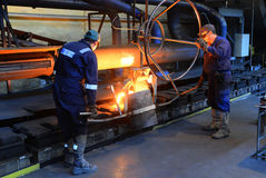 Working in a foundry Stock Photography